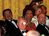 President Romano Prodi of Italy, actress Sophia Loren, and Reginald Green are among the Official Dinner guests at the White House in Washington, D.C. on May 6, 1998..Credit: Ron Sachs / CNP