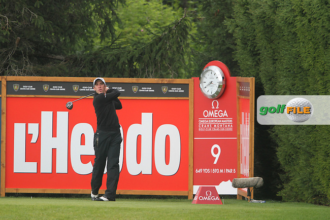 Romain Wattel (FRA) on the 9th on Day 3 of the Omega European Masters 2012, Golf Club Crans-Sur-Sierre, Crans Montana, Switzerland, 01/09/12...(Photo Jenny Matthews/www.golffile.ie)