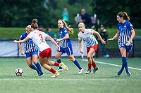 Boston, MA - Friday July 07, 2017: Adriana Leon and Arin Gilliland during a regular season National Women's Soccer League (NWSL) match between the Boston Breakers and the Chicago Red Stars at Jordan Field.