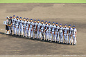 Mie team group,<br /> AUGUST 25, 2014 - Baseball :<br /> Mie players line up with the runner-up plaque and silver medals during the closing ceremony after the 96th National High School Baseball Championship Tournament final game between Mie 3-4 Osaka Toin at Koshien Stadium in Hyogo, Japan. (Photo by Katsuro Okazawa/AFLO)