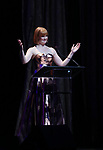 Kate Baldwin on stage at the Dramatists Guild Foundation 2018 dgf: gala at the Manhattan Center Ballroom on November 12, 2018 in New York City.
