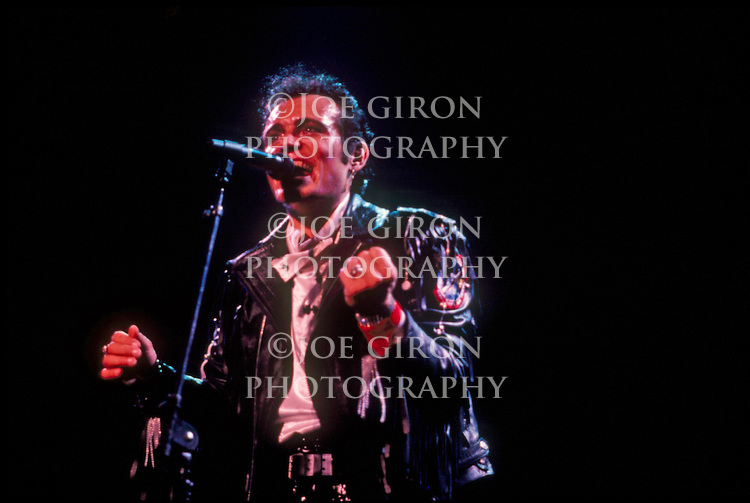 Live photographs of recording artist Adam Ant