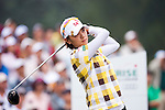 TAOYUAN, TAIWAN - OCTOBER 21: Ai Na Yeon Choi of South Korea tees off on the 9th hole during day two of the LPGA Imperial Springs Taiwan Championship at Sunrise Golf Course on October 21, 2011 in Taoyuan, Taiwan. (Photo by Victor Fraile/Getty Images)