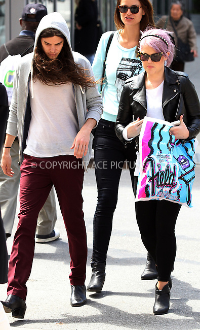 WWW.ACEPIXS.COM....April 24 2013, New York City....TV personality Kelly Osbourne and her boyfriend Matthew Mosshart when shopping at Patricia Field in The Bowery on April 24 2013 in New York City......By Line: Zelig Shaul/ACE Pictures......ACE Pictures, Inc...tel: 646 769 0430..Email: info@acepixs.com..www.acepixs.com
