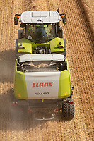 Claas Rolant 540 baler working in Suffolk<br />