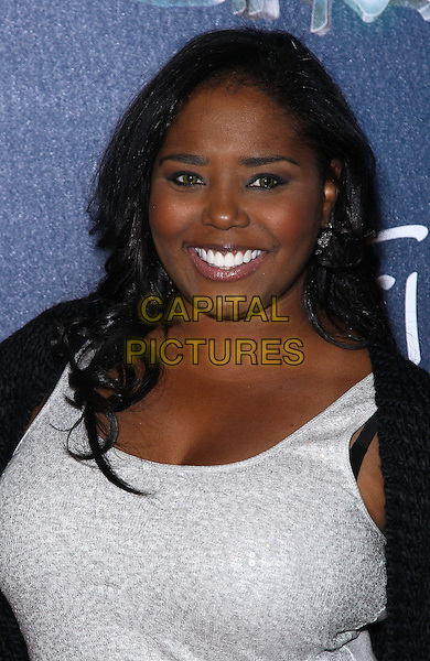 Shar Jackson.Red Carpet Premiere of Zarkana by Cirque Du Soleil at Aria Resort and Casino, Las Vegas, Nevada, USA, .9th November 2012..portrait headshot smiling white top .CAP/ADM/MJT.© MJT/AdMedia/Capital Pictures.