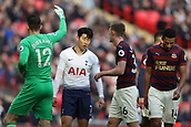 2nd February 2019, Wembley Stadium, London England; EPL Premier League football, Tottenham Hotspur versus Newcastle United; Son Heung-Min of Tottenham Hotspur reacts as another chance on goal is saved