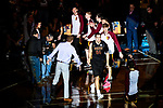 SIOUX FALLS, SD - MARCH 24: Carter Evans #54 of Northern State University is introduced prior to the Division II Men's Basketball Championship held at the Sanford Pentagon on March 24, 2018 in Sioux Falls, South Dakota. Ferris State University defeated Northern State University 71-69. (Photo by Tim Nwachukwu/NCAA Photos via Getty Images)