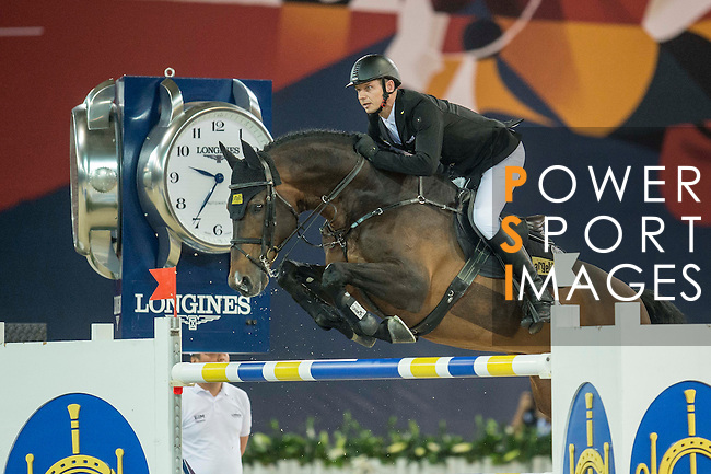 Marco Kutscher of Germany riding Van Gogh during the Hong Kong Jockey Club Trophy competition, part of the Longines Masters of Hong Kong on 10 February 2017 at the Asia World Expo in Hong Kong, China. Photo by Juan Serrano / Power Sport Images