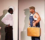 Thaddeus Daniels & Layon Gray - Layon Gray's Kings of Harlem - a story about the Harlem Rens who were one of the dominant basketball teams of the 1920's and 1930's - had a special show on September 15, 2015 at St. Luke's Theatre, New York City, New York. The play stars Melvin Huffnagle, Thaddeus Daniels, Ade Otukoya, Lamar Cheston, Delano Barbosa, Jeantique Oriol and Layon Gray.  (Photo by Sue Coflin/Max Photos)
