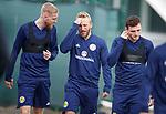 09.10.2018 Scotland training, Oriam: Oli McBurnie, Jonny Russell and Andy Robertson