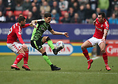 24th March 2018, The Valley, London, England;  English Football League One, Charlton Athletic versus Plymouth Argyle; Lewis Page of Charlton Athletic and Jake Forster-Caskey of Charlton Athletic put pressure on Ruben Lameiras of Plymouth Argyle