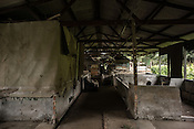 An abandoned pig farm in Bukit Pelandok in Nageri Sembilan, Malaysia on October 16th, 2016. <br /> In September 1998, a virus among pig farmers (associated with a high mortality rate) was first reported in the state of Perak in Malaysia. Dr. Chua investigated and discovered the virus and it was later named, Nipah Virus. The outbreak in Malaysia was controlled through the culling of &gt;1 million pigs.