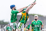 Daniel Collins Kilmoyley in action against Anthony O'Carroll Ballyduff in the County Senior Hurling Final at Austin Stack Park on Sunday.