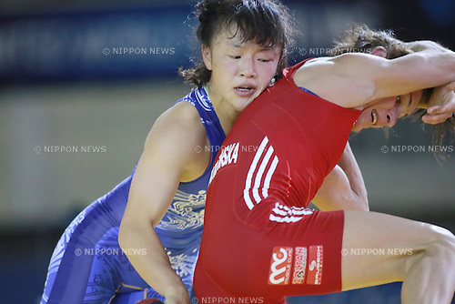 Eri Tosaka (JPN), SEPTEMBER 16, 2014 - Wrestling : Eri Tosaka of Japan competes during the women's 48kg weight category match of the UWW World Wrestling Championships in Toshkent, Uzbekistan. (Photo by Sachiko Hotaka/AFLO)