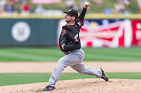 Nashville Sounds pitcher Jarrod Parker (55) during a baseball game, Sunday May 03, 2015 in Round Rock, Tex. Express sweep four game series by defeating Sounds 5-4. (Mo Khursheed/TFV Media via AP images)