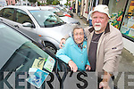 A very angry and frustrated Billy McElligott whose 90 year old mother Mary from Spa Road has a Disabled Parking Disc - said that most of the parking spaces in the town centre were blocked by 'vans' and stalls