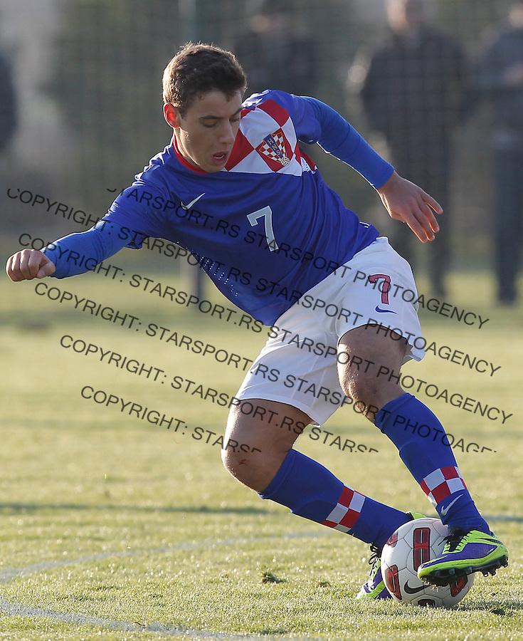 Fudbal  Reprezentacija Srbije<br /> Prijateljski mec Friendly match<br /> Srbija U17 v Croatia U17 <br /> Nikola Vlasic<br /> Beograd, 11.12.2013.<br /> foto: Srdjan Stevanovic/Starsportphoto &copy;