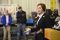State Rep. Jana Della Rosa speaks Thursday, February 13, 2020, prior to a groundbreaking for an expansion of the ammonia refrigeration, industrial maintenance and boiler operation facility on the campus in Springdale. The school is also in the process of building a facility dedicated to welding, which is scheduled to open this fall. Check out nwaonline.com/200214Daily/ and nwadg.com/photos for a photo gallery.<br /> (NWA Democrat-Gazette/David Gottschalk)