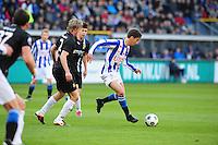 VOETBAL: HEERENVEEN: Abe Lenstra Stadion, SC Heerenveen - Vitesse, 21-01-2012, Tomas Kalas (#2), Filip Djuricic (#11), Eindstand 1-1, ©foto Martin de Jong