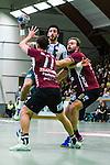 Stockholm 2013-10-16 Handboll Elitserien Hammarby IF - LUGI :  <br /> Hammarby 10 Josef Pujol stoppas av Lugi 11 Anders Hallberg och Lugi 20 Magnus Jernemyr <br /> (Foto: Kenta J&ouml;nsson) Nyckelord: