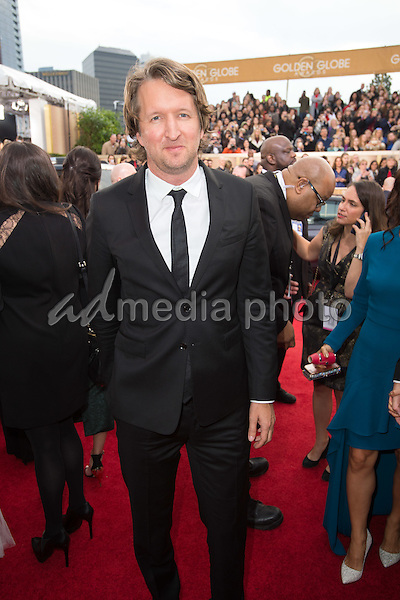 Tom Hooper arrives at the 73rd Annual Golden Globe Awards at the Beverly Hilton in Beverly Hills, CA on Sunday, January 10, 2016. Photo Credit: HFPA/AdMedia