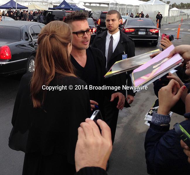 Pictured: Brad Pitt,  Angelina Jolie<br /> Mandatory Credit &copy; CALA/Broadimage<br /> Brad Pitt and Angelina Jolie arriving at the 2014 Independent Spirit Awards<br /> <br /> 3/1/14, Santa Monica, California, United States of America<br /> <br /> Broadimage Newswire<br /> Los Angeles 1+  (310) 301-1027<br /> New York      1+  (646) 827-9134<br /> sales@broadimage.com<br /> http://www.broadimage.com