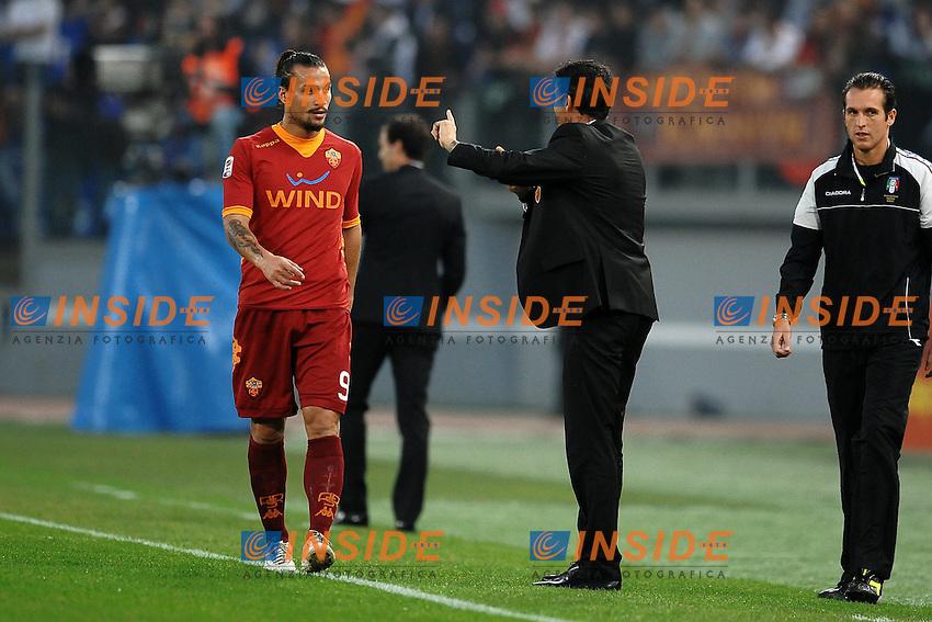 "OSVALDO e Luis Enrique Roma.Roma 29/10/2011 Stadio ""Olimpico"".Football Calcio Serie A 2011/2012 .Roma Vs Milan.Foto Insidefoto Andrea Staccioli"