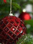 Christmas ornament on a Christmas tree