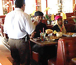 January 22nd 2013   Exclusive <br /> <br /> <br /> Nicki  Minaj eating lunch at Paradise Cove restaurant on the beach in Malibu California. Nicki was eating with her  boyfriend Safaree Samuels.  After lunch the couple drove down the street to get a Manicure Pedicure. While Nicki was getting her nails done she looked at magazines &amp; talked with fans. Nicki was carrying a designer blue purse with little silver balls all over it &amp; a pink hat with a blue butterfly. As Nicki was leaving the nail salon a shirtless surfer gave her flowers. shoes<br /> <br /> <br /> AbilityFilms@yahoo.com<br /> 805-427-3519<br /> www.AbilityFilms.com