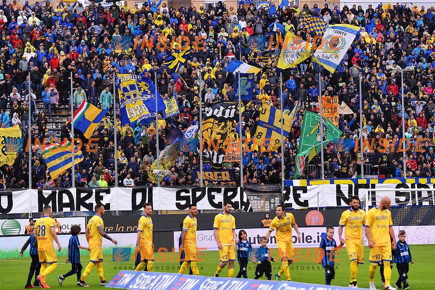 Tifosi Frosinone Supporters <br /> Frosinone 09-04-2016 Stadio Matusa Football Calcio Serie A 2015/2016 Frosinone - Inter Foto Andrea Staccioli / Insidefoto
