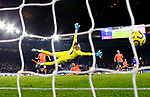 Kelechi Iheanacho of Leicester City scores the winning goal against Everton during the Premier League match at the King Power Stadium, Leicester. Picture date: 1st December 2019. Picture credit should read: Darren Staples/Sportimage