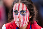 A Fan of Atletico de Madrid during the La Liga match between Atletico de Madrid vs Villarreal CF at the Estadio Vicente Calderon on 25 April 2017 in Madrid, Spain. Photo by Diego Gonzalez Souto / Power Sport Images