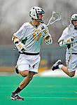 1 April 2008: University of Vermont Catamounts' Tommy Archer, a Sophomore from Washington, DC, in action against the Fairfield University Stags at Moulton Winder Field, in Burlington, Vermont. The Catamounts rallied to overcome a five goal deficit and defeat the visiting Stags 9-8 notching their third win of the season...Mandatory Photo Credit: Ed Wolfstein Photo