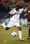 2 October 2004: Freddy Adu scores the game's only goal in the 16th minute. DC United defeated the MetroStars 1-0 at Giants Stadium in East Rutherford, NJ during a regular season Major League Soccer game...