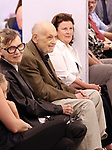 Barbara Siman and Charles Strouse during the Children's Theatre of Cincinnati presentation for composer Charles Strouse of 'Superman The Musical' at Ripley Grier Studios on June 8, 2018 in New York City.