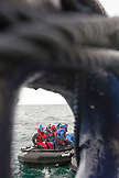 SVALBARD, Longyearban, The Zodiac from the MS Origo in the waters of Svalbard.