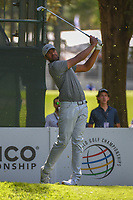 Tony Finau (USA) watches his tee shot on 7 during round 1 of the World Golf Championships, Mexico, Club De Golf Chapultepec, Mexico City, Mexico. 2/21/2019.<br /> Picture: Golffile | Ken Murray<br /> <br /> <br /> All photo usage must carry mandatory copyright credit (© Golffile | Ken Murray)