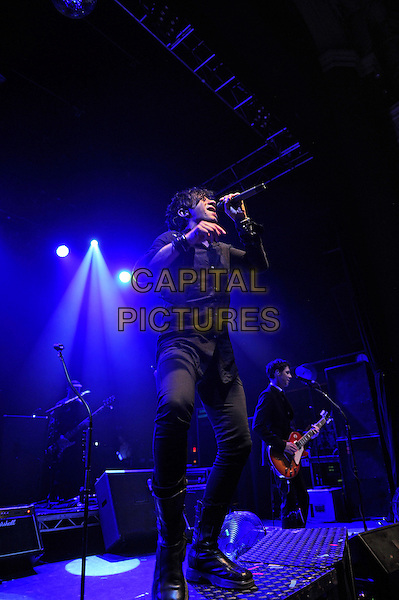 LONDON, ENGLAND - JULY 14: Nicola Sirkis of Indochine performs live at Shepherd's Bush Empire on July 14, 2014 in London, England.<br /> CAP/MAR<br /> &copy; Martin Harris/Capital Pictures