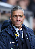 17th March 2019, The Den, London, England; The Emirates FA Cup, quarter final, Millwall versus Brighton and Hove Albion; Brighton & Hove Albion manager Chris Hughton