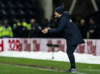 Preston North End's manager Alex Neil  bellows at his players <br /> <br /> Photographer Andrew Kearns/CameraSport<br /> <br /> The EFL Sky Bet Championship - Preston North End v Derby County - Friday 1st February 2019 - Deepdale Stadium - Preston<br /> <br /> World Copyright © 2019 CameraSport. All rights reserved. 43 Linden Ave. Countesthorpe. Leicester. England. LE8 5PG - Tel: +44 (0) 116 277 4147 - admin@camerasport.com - www.camerasport.com
