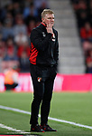 Eddie Howe manager of Bournemouth looks on frustrated during the premier league match at the Vitality Stadium, Bournemouth. Picture date 18th April 2018. Picture credit should read: David Klein/Sportimage