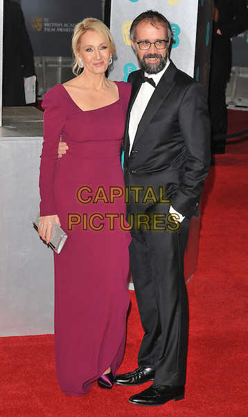 J.K. Rowling and Neil Murray at the EE British Academy Film Awards (BAFTAs) 2017, Royal Albert Hall, Kensington Gore, London, England, UK, on Sunday 12 February 2017.<br /> CAP/CAN<br /> &copy;CAN/Capital Pictures