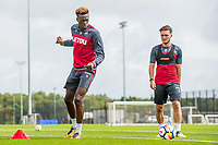 Wednesday 26 July 2017<br /> Pictured: Tammy Abraham during training <br /> Re: Swansea City FC Training session takes place at the Fairwood Training Ground, Swansea, Wales, UK