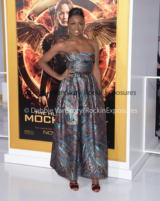 Patina Miller at The  Los Angeles Premiere of The Hunger Games: Mockingjay - Part 1 held at  Nokia Theatre L.A. Live in Los Angeles, California on November 17,2014                                                                               © 2014 Hollywood Press Agency