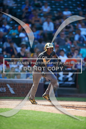 Thomas Jones (15) of Laurens Dist 55 High School in Laurens, South Carolina during the Under Armour All-American Game on August 15, 2015 at Wrigley Field in Chicago, Illinois. (Mike Janes/Four Seam Images)