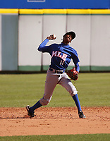 Ryson Polonius participates in the MLB International Showcase at Estadio Quisqeya on February 22-23, 2017 in Santo Domingo, Dominican Republic.