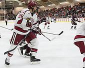 Jacob Olson (Harvard - 26), Rory McGuire (Colgate - 13) - The Harvard University Crimson defeated the visiting Colgate University Raiders 7-4 (EN) on Saturday, February 20, 2016, at Bright-Landry Hockey Center in Boston, Massachusetts,