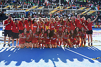 Bronze medallists Spain<br /> <br /> Photographer Hannah Fountain/CameraSport<br /> <br /> Vitality Hockey Women's World Cup - Awards ceremony - Sunday 5th August 2018 - Lee Valley Hockey and Tennis Centre - Stratford<br /> <br /> World Copyright &copy; 2018 CameraSport. All rights reserved. 43 Linden Ave. Countesthorpe. Leicester. England. LE8 5PG - Tel: +44 (0) 116 277 4147 - admin@camerasport.com - www.camerasport.com