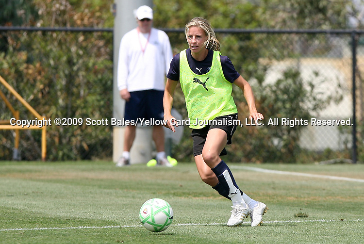 21 August 2009: LA's Aly Wagner. The Los Angeles Sol held a training session at the Home Depot Center in Carson, California one day before playing Sky Blue FC in the inaugural Women's Professional Soccer Championship Game.
